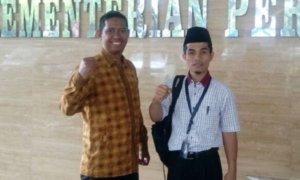 Sekretaris PP Pemuda Muhammadiyah Pedri Kasman dan Syamsu Hilal di Aula Kementan/Foto: Dok. Pribadi