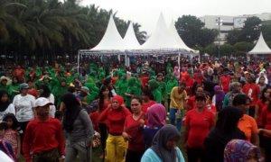 Jember Gelar Fun Color Aerobic/Foto Sis/Nusantaranews