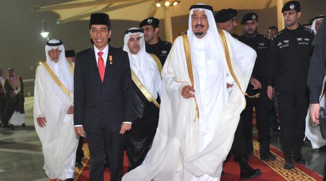 Jokowi dan Raja Salman/Foto via Liputan6