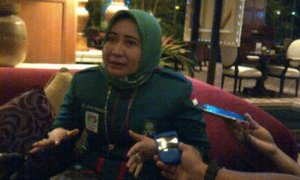 Ketua PB Jatim, Anik Maslacha/FotoTri Wahyudi/Nusantaranews