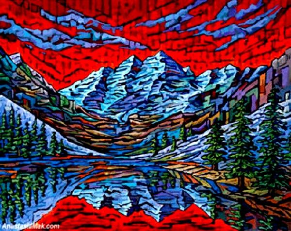 Maroon Bells, Colorado, Aspen, Rocky Mountains, Colorado Mountains, 8x10 Art Print/Foto: Dok. Anastasia mak