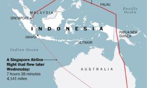 Rute Perjalanan Udara Dari Singapura Ke Australia oleh PM Israel/Foto via Washington Post