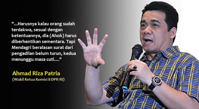 Wakil Ketua Komisi II DPR RI, Ahmad Riza Patria/Ilustrasi Foto: Nusantaranews via aktual