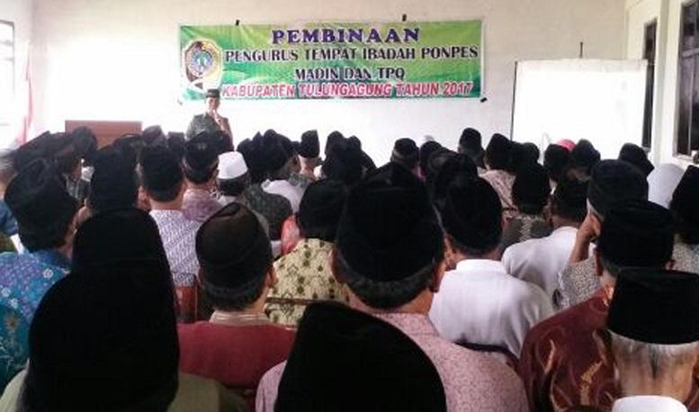 Wasbang Danunit Tulungagung melakukan Pembinaan Pengurus Tempat Ibada, Ponpes, Madin dan TPQ/Foto Dok. Pribadi
