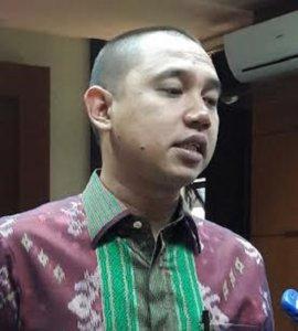 Ketua DKW Garda Bangsa Jawa Timur, Kabil Mubarok/Foto Tri Wahyudi