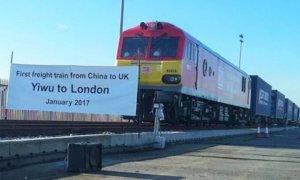 Kereta Api barang pertama dari Yiwu, Tiongkok tiba di London, Inggris/Foto: Dok. railwaygazette.com / Yvonne Mulder