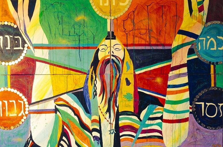 """Supplication""—Mixed media on canvas by Eliana Wolf/Foto: Dok. bullshit.ist"