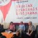 Kiri ke kanan: Moderator Pangeran Ahmad Nurdin, Peneliti Teknologi Energi dari ITB Yazid Bindar, Pengamat Ekonomi Faisal Basri, Pakar Hukum dari UI Erman Rajagukguk dalam sebuah diskusi bertajuk ??Melawan Kriminalisasi Kebijakan?? yang digelar di kantor MMD initiative, Menteng, Jakarta Pusat, Jumat (10/3/2017)/Foto: Dok. Kompas.com