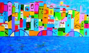 French town with mediteranian By Levan Mosiashvili/Foto: Dok. saatchiart.com