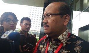 Pengacara Eko Susilo Hadi yakni Soesilo Aribowo, di Gedung KPK, Jakarta Selatan/Foto Restu Fadilah / NUSANTARAnews