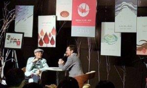 Sapardi dalam bincang-bincang ultahnya yang ke-77 di Bentara Budaya Jakarta, 22 Maret 2017/Foto: Dok. Ant