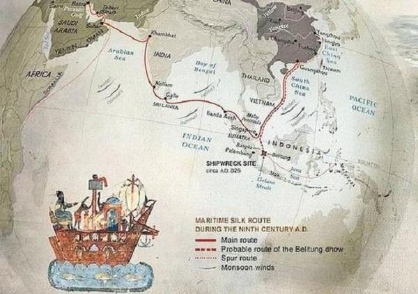 Jejak Cina di Perairan Bangka Belitung Sejak Abad ke-6 Masehi/Ilustrasi: Dok. IndoCropCircles