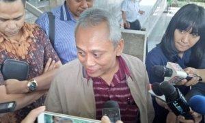 Anggota Komisi II DPR, Arif Wibowo di Gedung KPK/Foto: Dok. Okezone.com