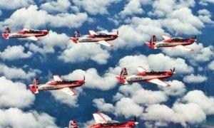 Atraksi Jupiter Aerobatic Team (JAT) TNI AU/Foto: Dok. garudamiliter