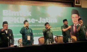 Ketua Umum DPP PKB Muhaimin Iskandar membuka acara Bimtek Fraksi PKB Se-Jatim/Foto Ahmad Hatim/Nusantaranews