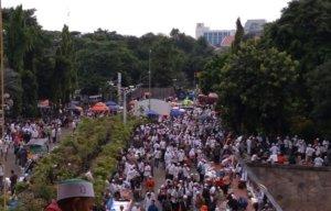 Suasa Aksi 313 nampak tenang. Foto JWI (Istimewa)