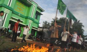 Kader Ansor Way Kanan Mengikuti Ujian Melewati Api/Foto Dok. Pribadi/Nusantaranews