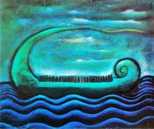 "H.Amang Rahman Jubair, ""Bahtera Kehidupan"",1970/Koleksi Lukisan: anakwayan9.blogspot.co.id"