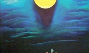 "H.Amang Rahman Jubair, ""Antara Kayu Tanam-Bukit Tinggi"", 2000/Koleksi Lukisan: anakwayan9.blogspot.co.id"