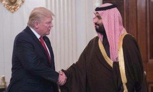 Mohammed bin Salman and trump/foto dailymail/Nusantaranews