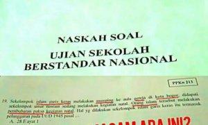 Naskah USBN Jadi Viral/Foto Tri Wahyudi/Nusantaranews