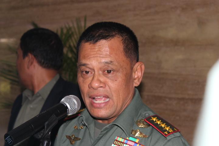 Elektabilitas Gatot Nurmantyo/Foto Andika/Nusantaranews