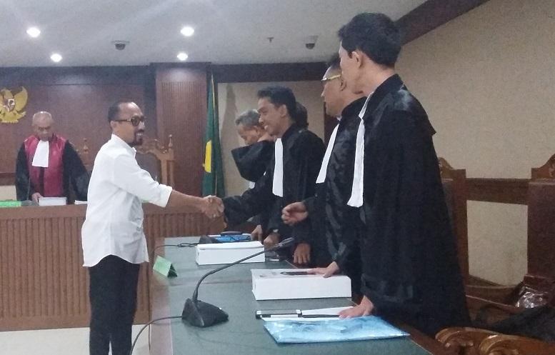 Politisi PAN Andi Taufan Saat Sidang di KPK/Foto Fadilah/NUSANTARAnews