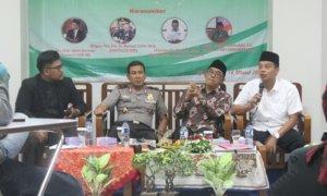 Koordinator Nasional Densus 26 NU, Umaruddin Masdar, dalam acara Pengajian Kebangsaan, di Universitas Alma Ata, Bantul, Yogyakarta, Sabtu (18/3/2017)/Foto Ibnu Hibban |Forum BEM DIY