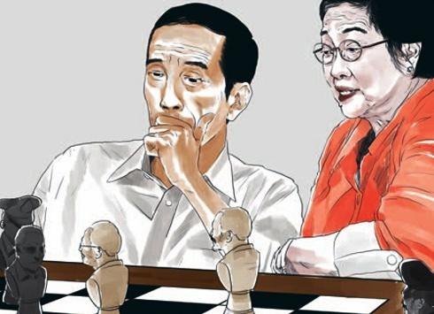 catur jokowi mega di tempo/Foto via sociapolitica/Nusantaranews