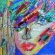 Artist: Manuella Muerner Marioni Title: Spectrum Art Face Dark Medium: Acrylic with Spectrum   NY Arts Magazine