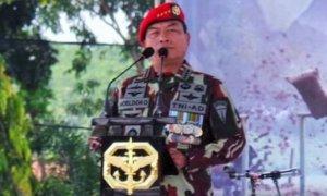 Ketua Umum Himpunan Kerukunan Tani Indonesia (HKTI), Moeldoko. Foto: Bisnis Keuangan - Kompas