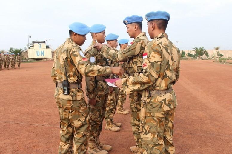19 Prajurit Konga XXXVII-C/Minusca Naik Pangkat di Afrika Tengah/Foto Dok. Puspen TNI/Nusantaranews