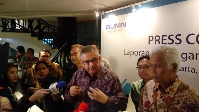 Direktur Keuangan PLN Sarwono Sudarto. Foto Richard Andika/ NUSANTARAnews