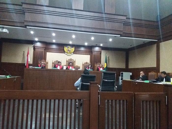 Penyuap Pejabat Pajak Bacakan Pledoi. Foto Restu Fadilah/ NUSANTARAnews