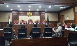 Sidang kedelapan Perkara dugaan korupsi pengadaan e-KTP di pengadilan Kamis (13/4/2017). Foto Restu Fadilah/ NUSANTARAnews