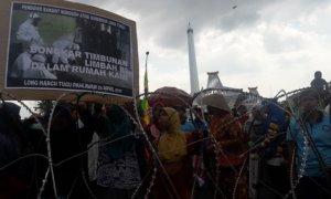 Tolak Penimbunan B3, Warga Lakardowo Wadul Ke Gubernur Jatim. Foto Tri Wahyudi