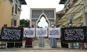 Aksi HTI di UIN Sunan Kalijaga Yogyakarta/Foto Istimewa/Nusantaranews