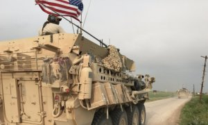 American troops on the border between Rojava and Turkey/Foto Dok. Muhammad Hassan/@MHJournalist/Nusantaranews