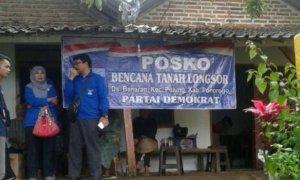 Partai Demokrat Jatim Buka Posko Korban Longsor Ponorogo. Foto Tri Wahyudi