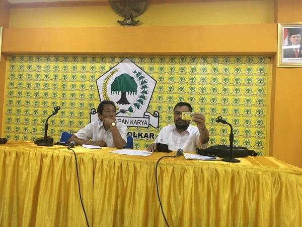Ketua Organizing Committee (OC) Rakerda DPD Partai Golkar Jatim Meulila Osman. Foto Tri Wahyudi
