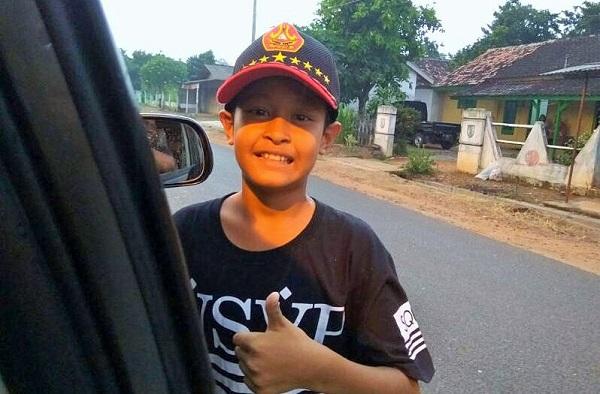 Davi Ravi Amar, pelajar kelas 5 SDN 4 Metro Utara, Kota Metro, Provinsi Lampung. Foto Erli Badra