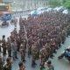 Ribuan Anggota Banser Gelar Apel Kebangsaan Di Ragunan. Foto Istimwa