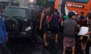Kecelakaan beruntun. Foto TK/Istimewa