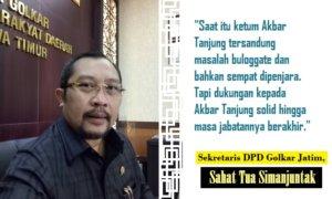 Sekretaris DPD Partai Golkar Jatim Sahat Tua Simanjuntak. Foto Tri Wahyudi/ Ilustrasi: By NUSANTARAnews