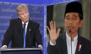 Joko Widodo dan Donald Trump: Ilustrasi Foto: NUSANTARAnews
