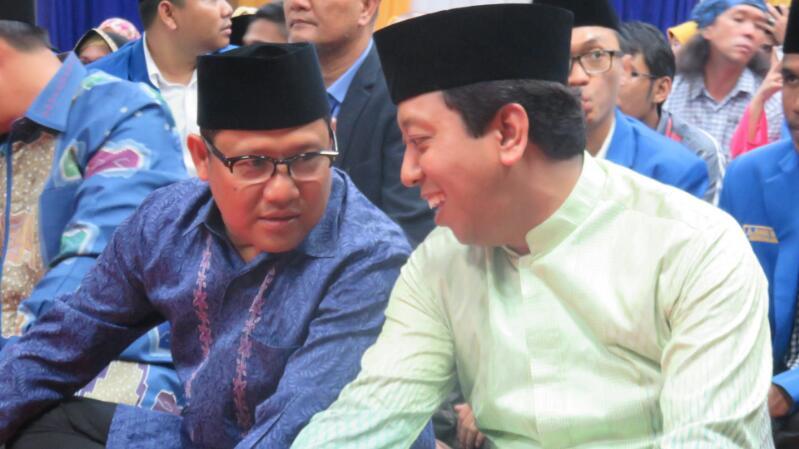 Ketum PKB Muhaimin Iskandar dan Ketum PPP Romahurmuziy/Foto Dok. Nusantaranews
