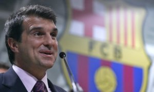 Mantan Presiden Barcelona Joan Laporta/Foto via newsigning/Nusantaranews