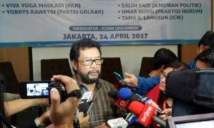 Politisi Partai Golkar, Yorrys Raweyai. Foto Restu Fadilah/ NUSANTARAnews