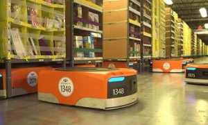 Buka Gudang Baru di Warrington, Amazon Sertakan Robotika Canggih. Foto: YouTube