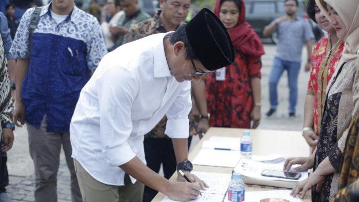 Sandiaga Uno saat ke TPS/Foto Istimewa/Nusantaranews